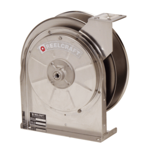 Reelcraft's 5600 OLS stainless hose reel.