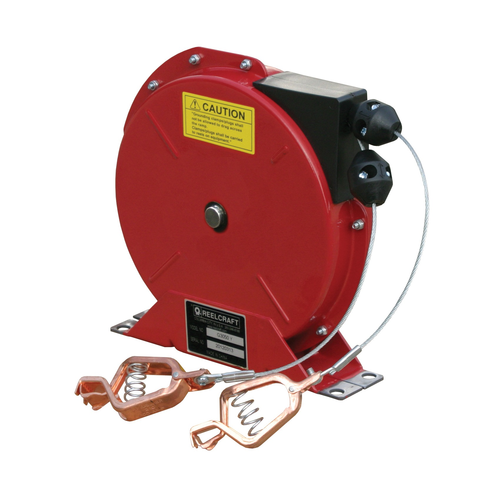 G 3050 Y - Heavy Duty Spring Retractable Grounding Reel - Hose, Cord and  Cable Reels - Reelcraft