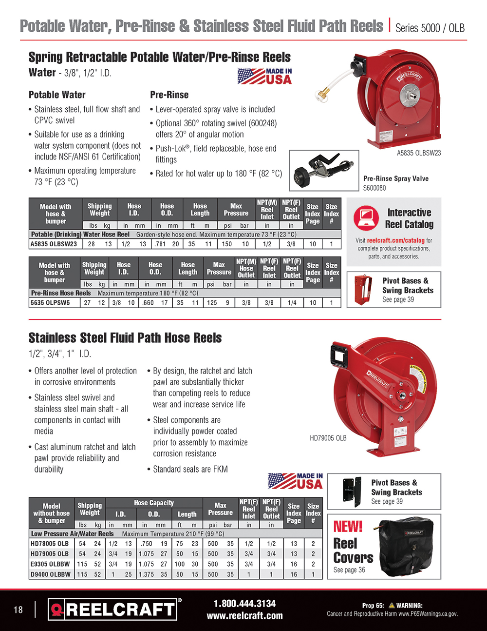 Reelcraft Catalog Page 18 - Fuel Reels & Grounding Reels