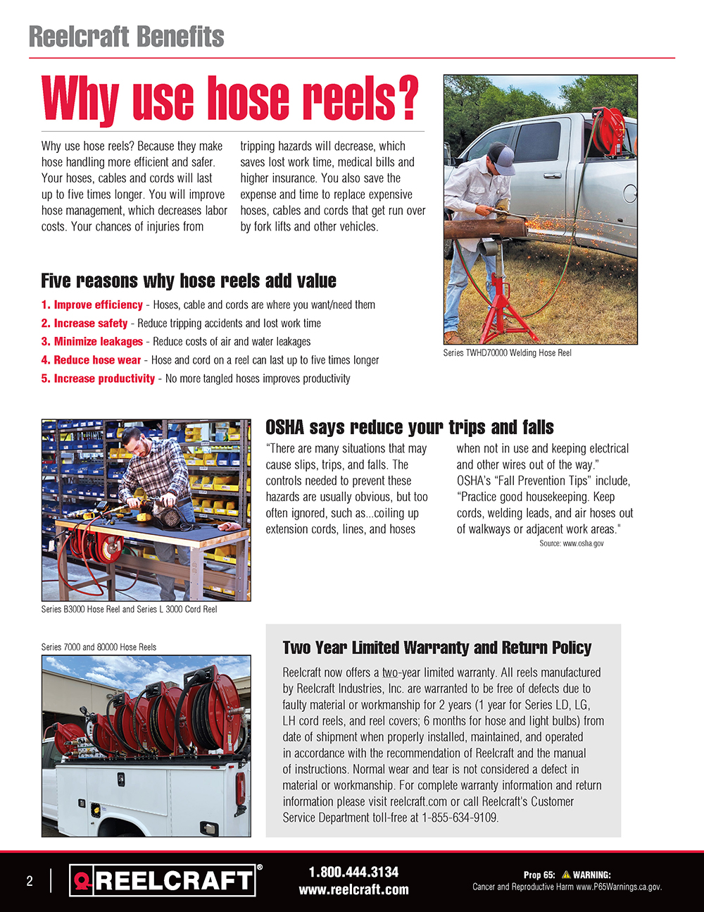 Reelcraft Catalog Page 2 - Why Use Reels