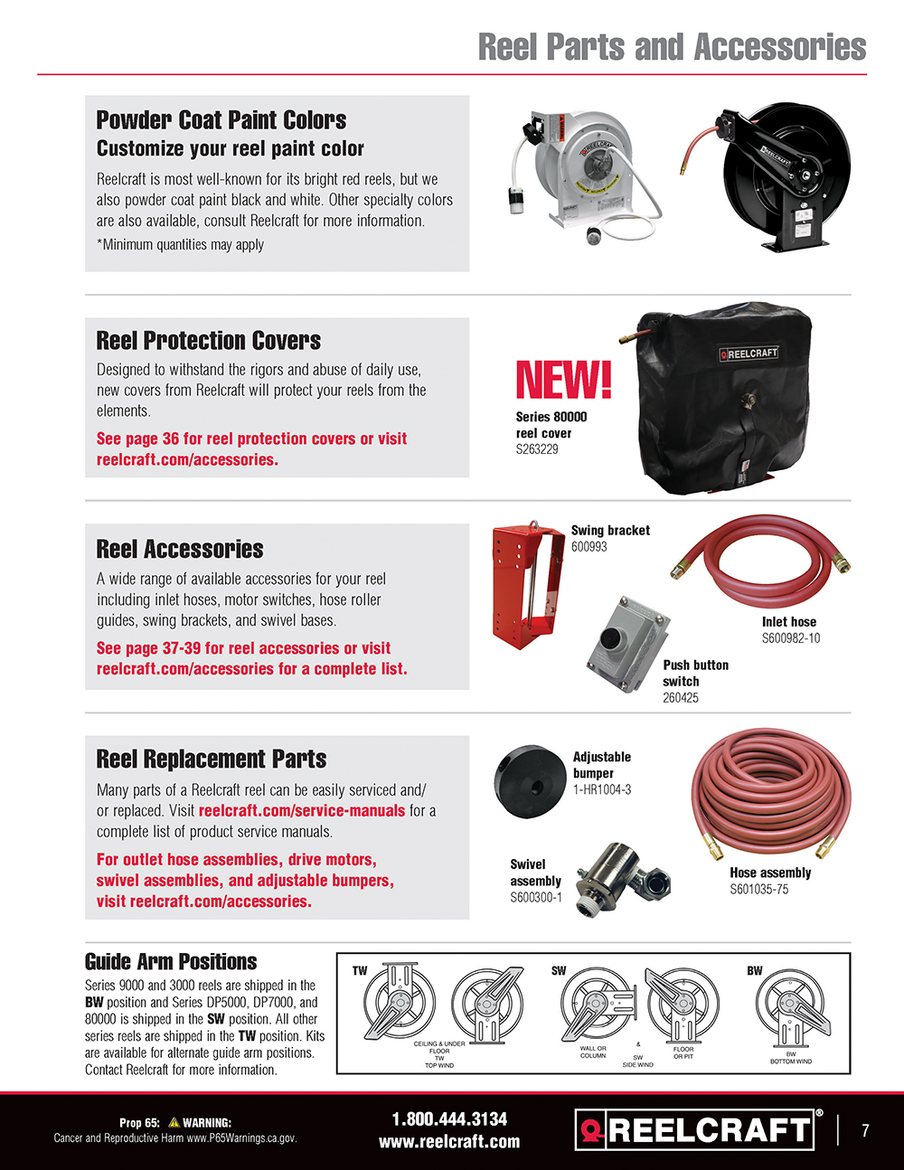 Reelcraft Catalog Page Page 7 - Reel Configurator & Custom Reels